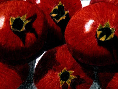 Painting - Pomegranates by Barbara J Blaisdell