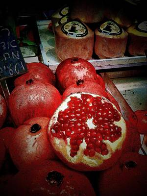 Photograph - Pomegranates In Open Market IIi by Lesa Fine