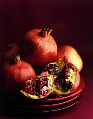Tableware Photograph - Pomegranates by Romulo Yanes