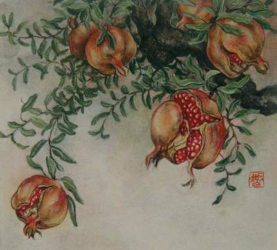 Pomegranates Art Print by Tomoko Koyama