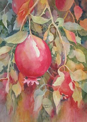 Painting - Pomegranite by Marilyn  Clement