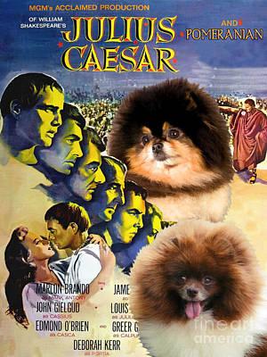 Painting - Pomeranian Art Canvas Print - Julius Caesar Movie Poster by Sandra Sij