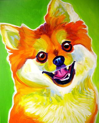 Dawgart Painting - Pomeranian - Tiger by Alicia VanNoy Call