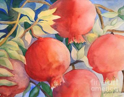 Pomogranates Art Print
