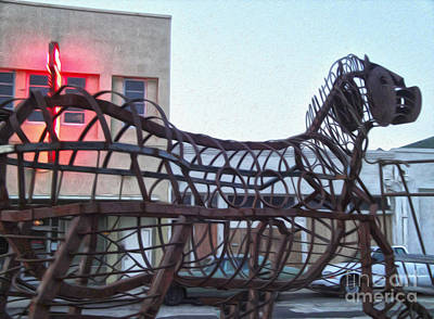Photograph - Pomona Art Walk - Metal Horse by Gregory Dyer