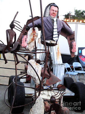 Photograph - Pomona Art Walk - Metal Man by Gregory Dyer