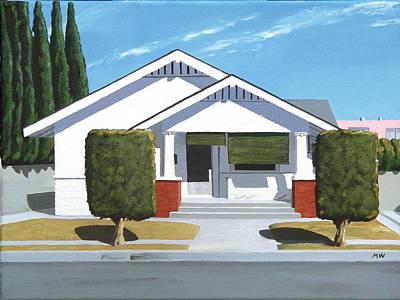 Suburban Painting - Pomona House by Michael Ward