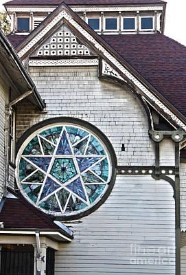 Pomona Art Walk Photograph - Pomona Seventh Day Adventist Church Stained Glass by Gregory Dyer