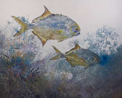 Pompano And Sea Fans Art Print