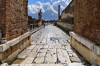Photograph - Pompei Rovine Piazza Principale  Main Square Ruins by Enrico Pelos
