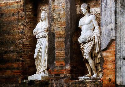 Photograph - Pompei Statue by Enrico Pelos