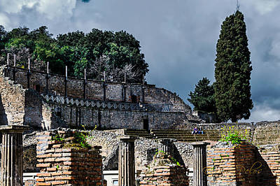 Photograph - Pompei Teatro Grande - Main Theatre by Enrico Pelos