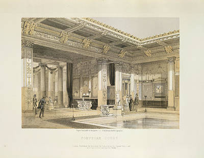 Pompeian Court Art Print