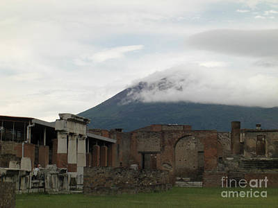 Photograph - Pompeii And Vesuvius by Deborah Smolinske
