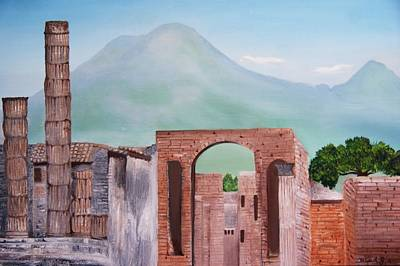 Pompeii And Vesuvius   Art Print