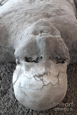 Photograph - Pompeii Ash Skeleton by Gregory Dyer