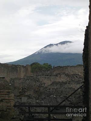 Photograph - Pompeii Beneath Vesuvius by Deborah Smolinske