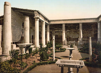 1900 Architecture Painting - Pompeii House by Granger
