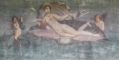 Photograph - Pompeii Nude Family Fresco by Roger Mullenhour