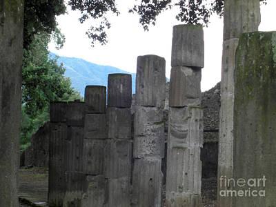 Photograph - Pompeii Pathway by Deborah Smolinske