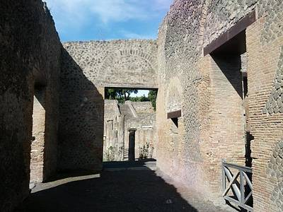 Digital Art - Pompeii Ruins I by Shesh Tantry
