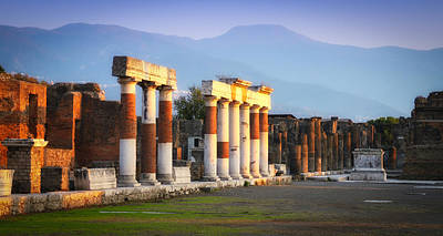 Italy Photograph - Pompeii Ruins by Timothy Denehy