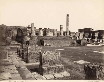 Zeus Photograph - Pompeii Temple Of Jove by Granger