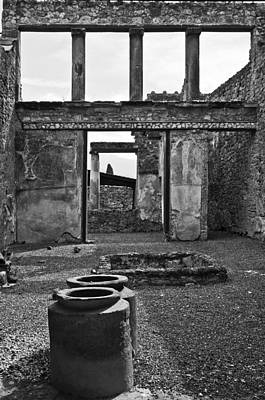 Naples Italy Photograph - Pompeii Urns by Marion Galt