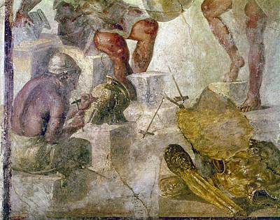 Vulcan Painting - Pompeii Vulcan's Workshop by Granger