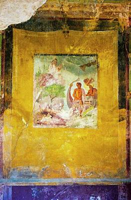 Mural Photograph - Pompeii Wall Painting. by Mark Williamson/science Photo Library