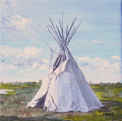 Painting - Pompey's Tepee by Sharon Tabor