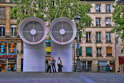 Photograph - Pompidou Center Courtyard 3 by Allen Beatty