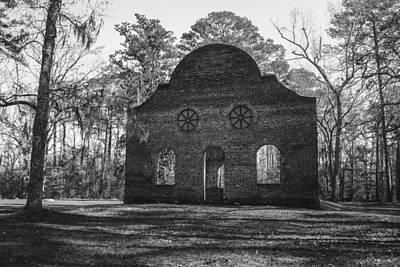 Pon Pon Chapel Of Ease 2 Bw Art Print by Steven  Taylor