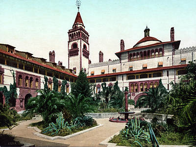 Of St. Augustine Painting - Ponce De Le�n Hotel, C1898 by Granger