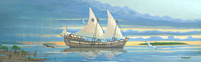 Painting - Ponce De Leon Exploration Ship by Duane McCullough