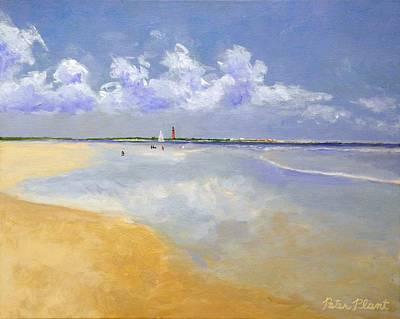 Ponce Deleon Inlet From New Smyrna Beach Art Print by Peter Plant