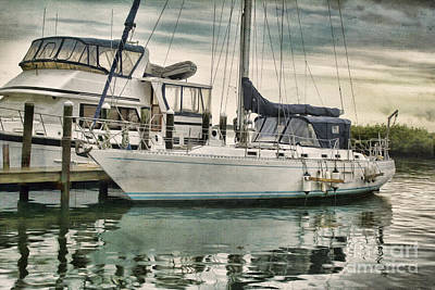 Ponce Inlet Docked Art Print