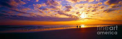 Ponce Inlet Fl Sunrise  Art Print by Tom Jelen