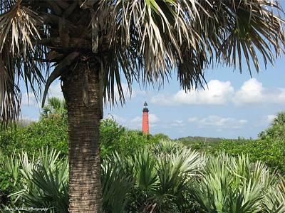 Art Print featuring the digital art Ponce Inlet Lighthouse Florida 2 by Brian Johnson