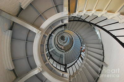 Photograph - Ponce Lighthouse Spiral Staircase by Bob Sample