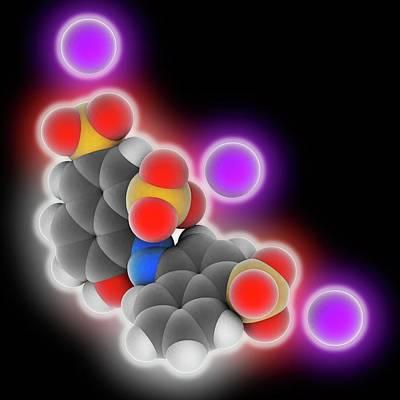 Ponceau 4r Molecule Art Print