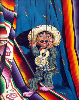 Poncho And His Guitar Art Print