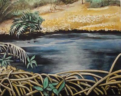 Painting - Pond 1 by Jorge Parellada