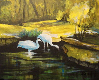 Painting - Pond 2 by Jorge Parellada