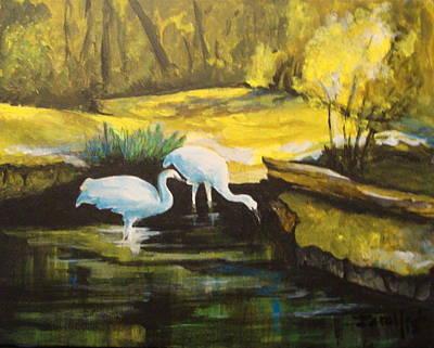 Painting - Pond 2 by Jorge Parellada