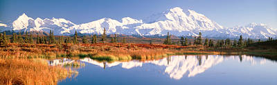 Jagged Photograph - Pond, Alaska Range, Denali National by Panoramic Images