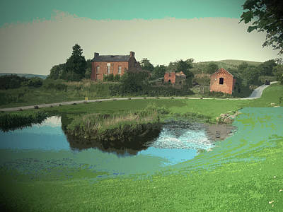 Pond And Derelict Dwelling On The, A Slightly Incongruous Art Print