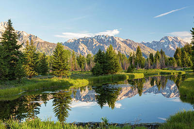 Teton Wall Art - Photograph - Pond, And Grand Teton's, Grand Teton by Peter Adams