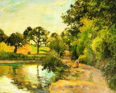 1874 Digital Art - Pond At Montfoucault by Camille Pissarro