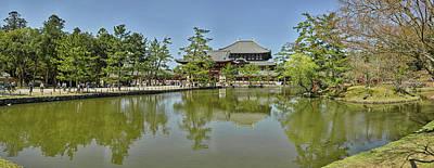 Nara Photograph - Pond At Todai-ji Temple, Nara, Nara by Panoramic Images